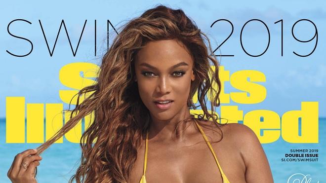 Tyra Banks gợi cảm chết người trên bìa số tạp chí đặc biệt của Sports Illustrated