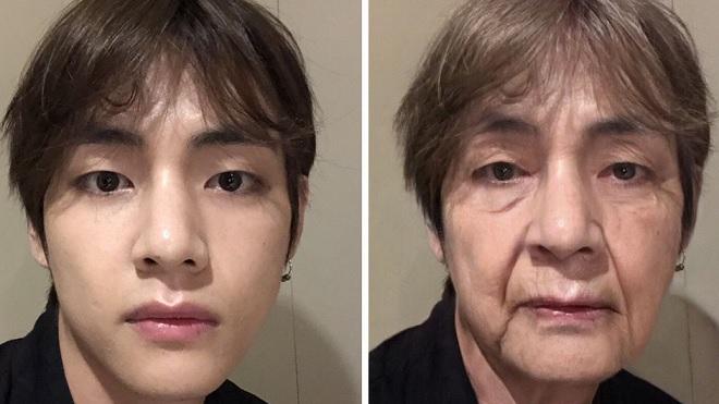 BTS, AgeChallenge, BTS khi về già, bts thử thách tuổi già, BTS đẹp trai. App BTS