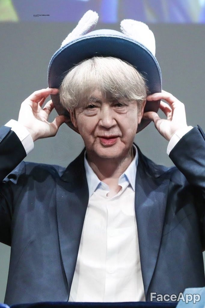 BTS, AgeChallenge, BTS khi về già, bts thử thách tuổi già, BTS đẹp trai, App BTS, BTS app, FaceApp, faceapp, faceapp pro