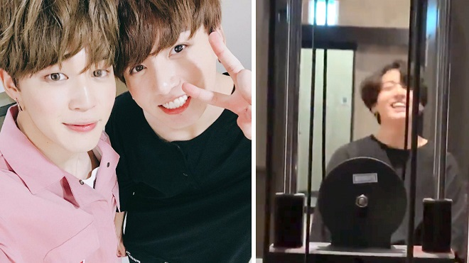 Jungkook và Jimin BTS rủ nhau 'đánh lẻ' tại phòng gym