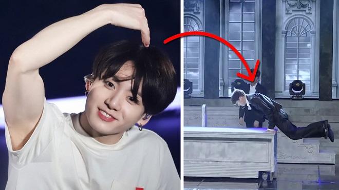 Xem Jungkook BTS dùng tay nâng cơ thể nhẹ như không