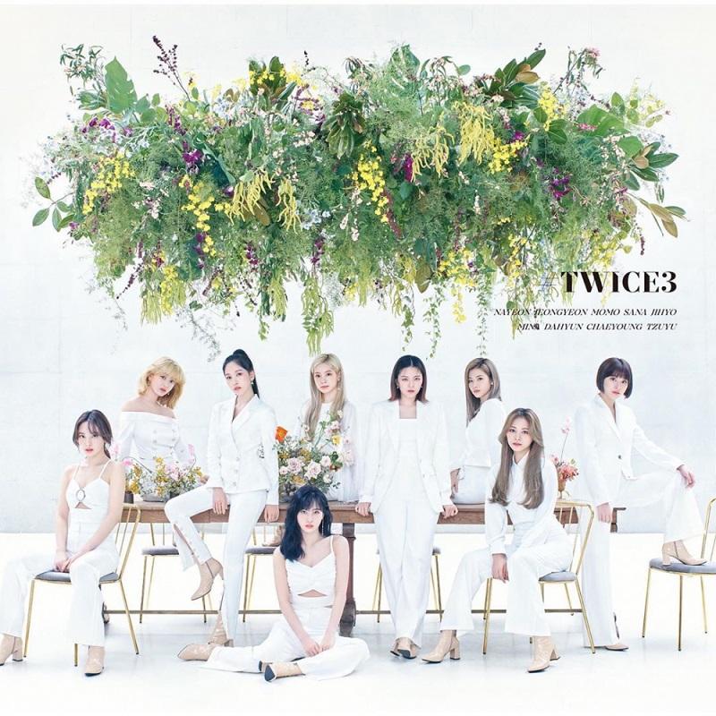 Twice, Twice xinh như nữ thần trong album Twice 3, Twice 3, album tiếng Nhật của Twice, Twice xinh đẹp, bìa album Twice 3
