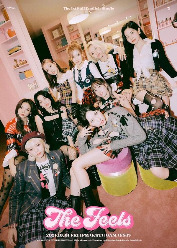 Twice, Twice ra MV tiếng Anh, MV tiếng Anh của Twice, ngày phát hành The Feels, The Feels, The Feels Twice, Nayeon, Jeongyeon, Momo, Sana, Jihyo, Mina, Dahyun, Chaeyoung