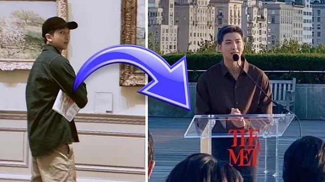 Sau 2 năm RM BTS trở lại bảo tàng danh tiếng Mỹ với tầm cao khác