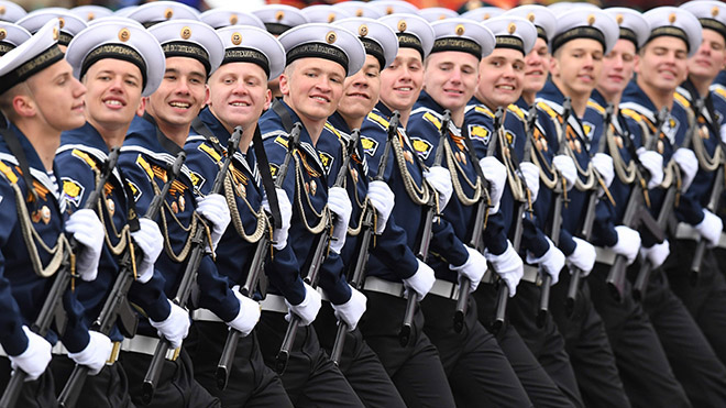 TOÀN CẢNH Lễ diễu binh vĩ đại của nước Nga trên Quảng trường Đỏ