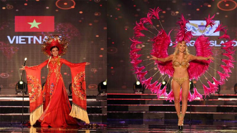 Mãn nhãn với trang phục dân tộc của thí sinh Hoa hậu Hòa bình Thế giới 2017