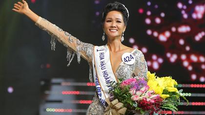 VIDEO: Phút đăng quang và màn trả lời ứng xử của tân Hoa hậu H'Hen Niê