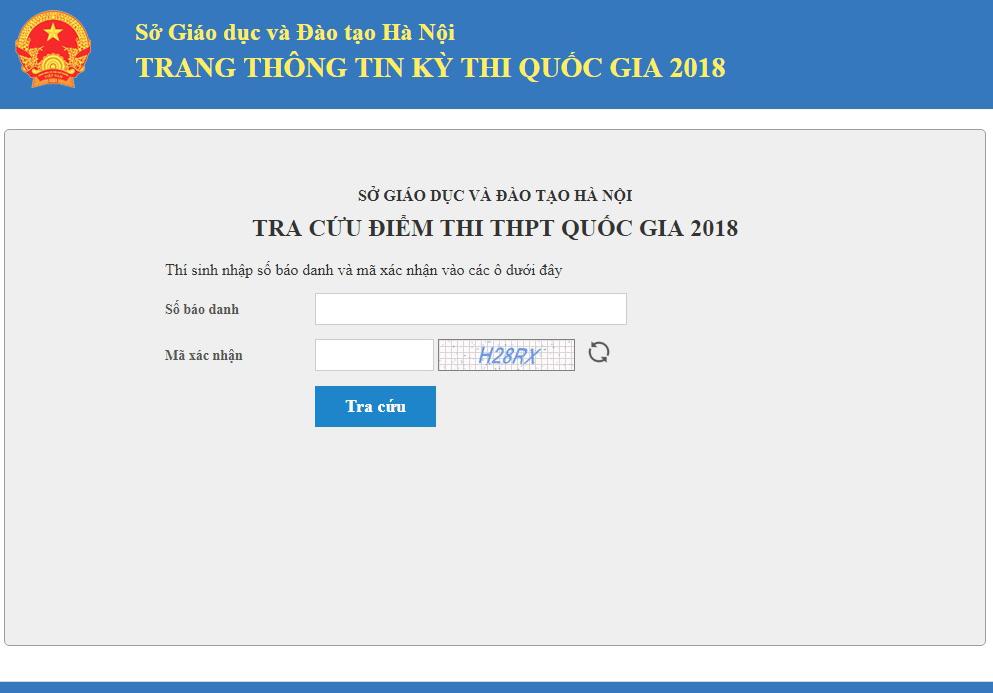 Hướng dẫn tra cứu điểm thi THPT quốc gia 2018 Hà Nội, TPHCM và toàn quốc