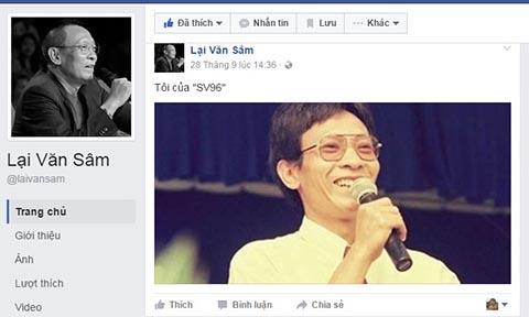 Facebook Lại Văn Sâm, Facebook Lai Van Sam, Nhà báo Lại Văn Sâm, Lại Văn Sâm, MC Lại Văn Sâm, Con Lại Văn Sâm, Lại Bắc Hải Đăng, Facebook của Lại Văn Sâm, Facebook giả