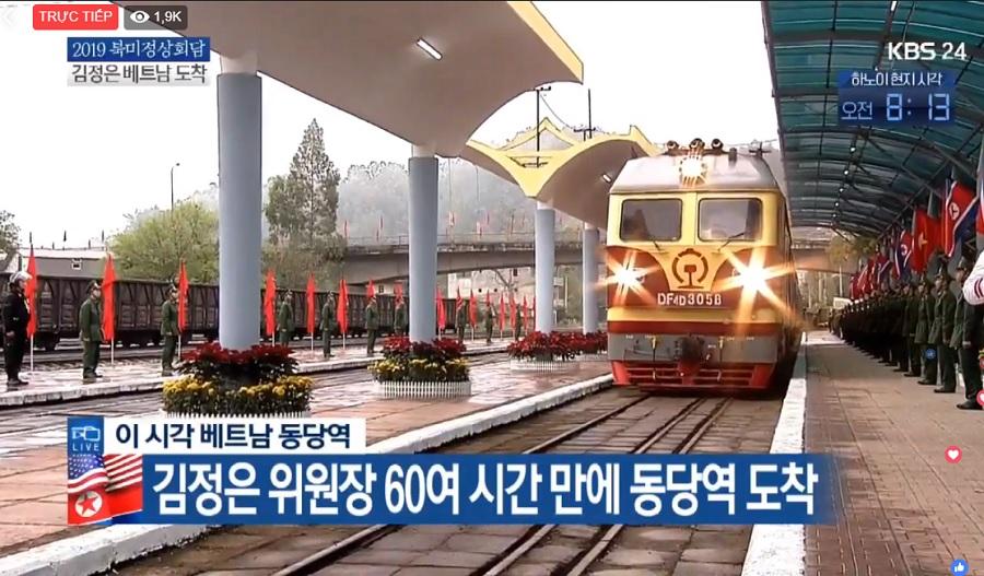 Thượng Đỉnh Mỹ Triều, Trực tiếp Thượng đỉnh Mỹ Triều, Trực tiếp Hội nghị Thượng đỉnh Mỹ Triều, Trực tiếp đón Kim Jong Un, Ga Đồng Đăng, đón Kim Jong Un, Donald Trump