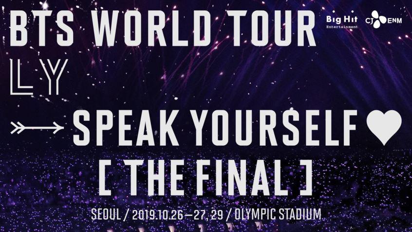 BTS, Đây có thể là lần cuối 7 thành viên BTS biểu diễn cùng nhau, BTS nhập ngũ, BTS tour diễn, Love Yourself Speak Yourself, BTS Love Yourself, thành viên bts nhập ngũ