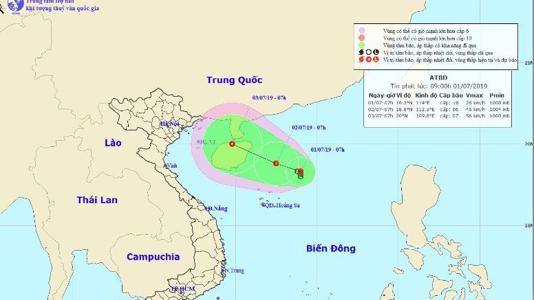 Áp thấp nhiệt đới, Vùng áp thấp, Bão số 2, Dự báo thời tiết, Ap thap nhiet doi, áp thấp nhiệt đới trên biển Đông, cơn bão số 2, tin áp thấp nhiệt đới, thời tiết, áp thấp