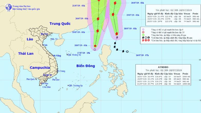 Dự báo thời tiết: Áp thấp nhiệt đới sẽ tan dần trong 2 ngày tới
