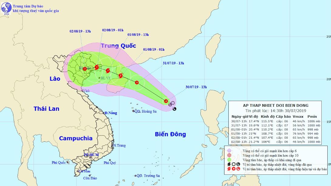 Tin bão: Áp thấp nhiệt đới sẽ mạnh lên thành bão, diễn biến rất phức tạp về cường độ và hướng đi