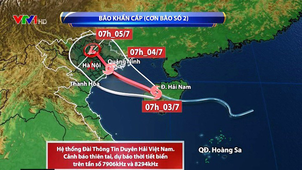 Bão số 2: Bão vào đất liền sáng 4/7 từ Hải Phòng đến Thanh Hóa