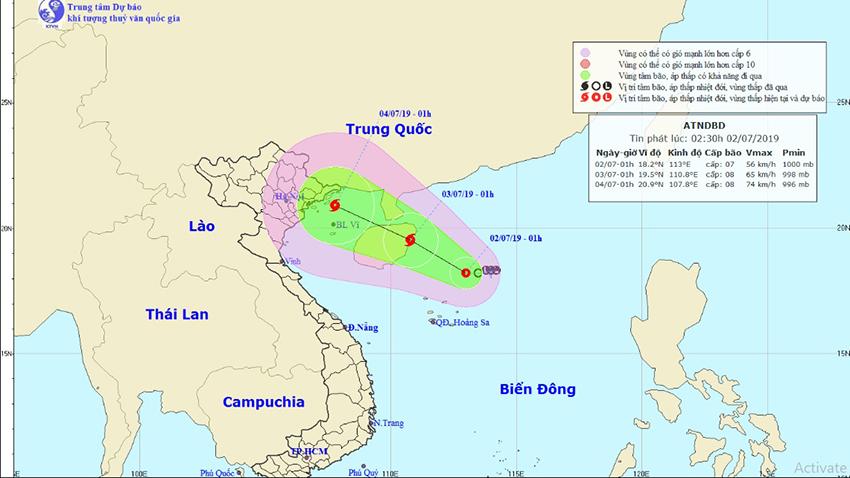 Bão số 2, Tin bão số 2, Cơn bão số 2, Tin bão, Áp thấp nhiệt đới, Bão số 2 2019, áp thấp nhiệt đới mạnh lên thành bão, bão số 2 năm 2019, tin bão, tin áp thấp nhiệt đới