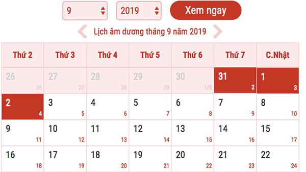 Lịch nghỉ 2/9, Nghỉ lễ 2/9, Lịch nghỉ 2/9 2019, Nghỉ lễ 2/9/2019, Nghỉ lễ 2-9, nghỉ 2/9, nghỉ 2-9, lịch nghỉ lễ 2/9, lịch nghỉ lễ 2-9, lịch nghỉ quốc khánh 2/9, nghi 2/9
