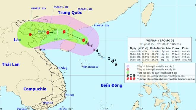Dự báo thời tiết: Tin bão khẩn cấp - cơn bão số 3