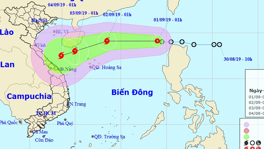 Bão số 5: Áp thấp nhiệt đới giật cấp 9 cách quần đảo Hoàng Sa 280 km sẽ mạnh lên thành bão số 5