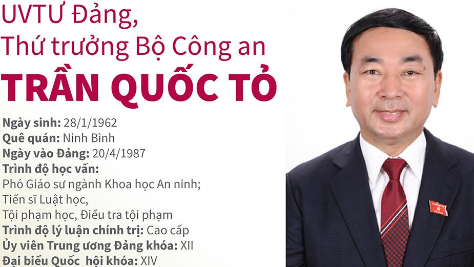 Quá trình công tác của UVTƯ Đảng, Thứ trưởng Bộ Công an Trần Quốc Tỏ