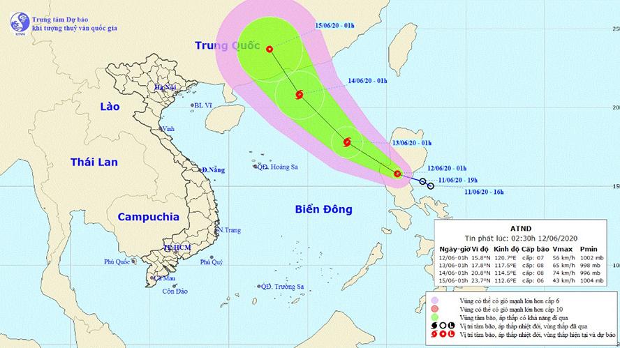 Tin bão số 1: Áp thấp nhiệt đới có khả năng mạnh lên thành bão số 1