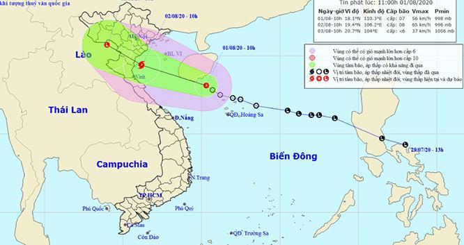 Tin mới nhất về áp thấp nhiệt đới Biển Đông