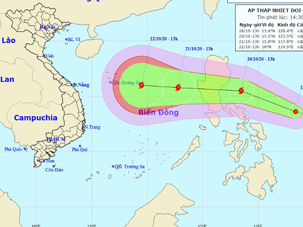 Tin mới nhất về áp thấp nhiệt đới sẽ mạnh lên thành bão đổ bộ miền Trung