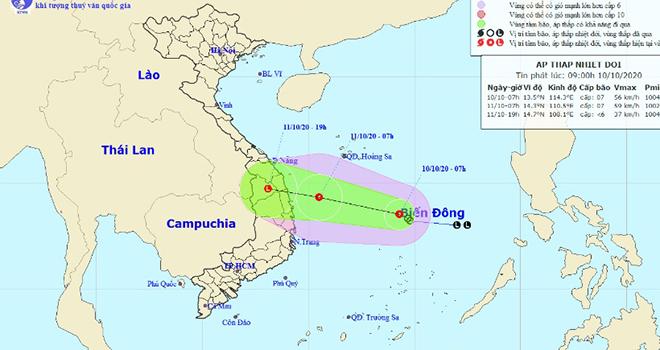 Áp thấp nhiệt đới, Dự báo thời tiết, Lũ lụt miền Trung, Tin bão, Thời tiết, dự báo thời tiết áp thấp nhiệt đới, du bao thoi tiet, ap thap nhiet doi, tin bão số 6