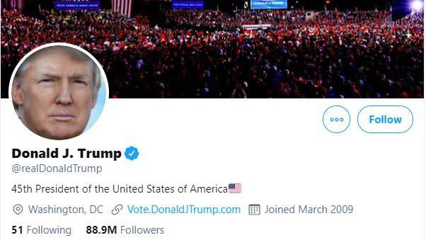 Twitter khóa tài khoản ông Donald Trump do lo ngại tiếp tục xảy ra bạo lực