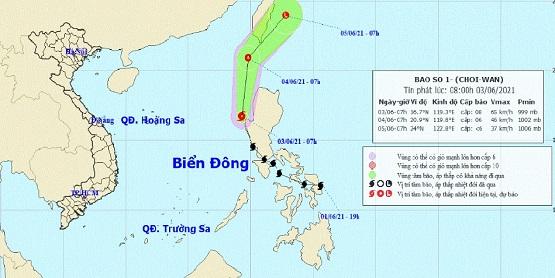 Bão Choi-Wan vào Biển Đông trở thành cơn bão số 1 năm 2021