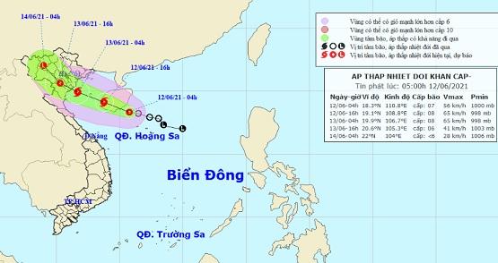 Tin áp thấp nhiệt đới khẩn cấp mạnh lên thành bão