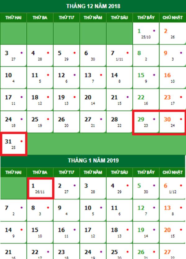 Lịch nghỉ Tết Dương lịch 2019, Nghỉ Tết Dương lịch 2019, Nghỉ Tết Dương lịch, Lịch nghỉ Tết Dương lịch, Tết Dương lịch 2019, Tết Dương lịch, lịch nghỉ tết, nghỉ tết dương