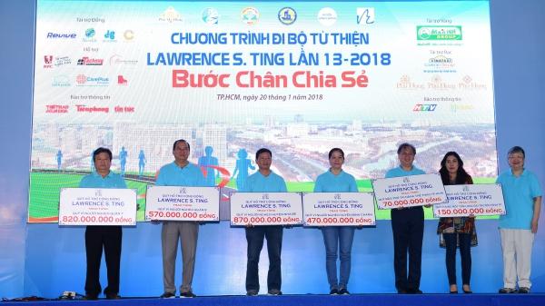 Đi bộ Từ thiện Lawrence S. Ting lần 14 – 2019: Hơn 3,1 tỷ đồng cho đồng bào khó khăn