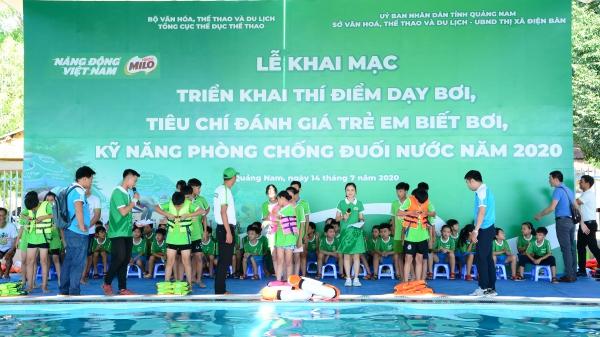 Nestlé MILO hỗ trợ chương trình phòng chống đuối nước cho trẻ em