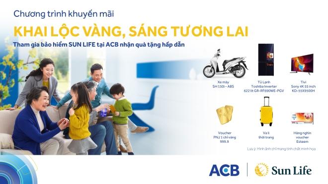 Chương trình khuyến mại hấp dẫn từ Sun Life Việt Nam qua Kênh Phân phối Ngân hàng ACB