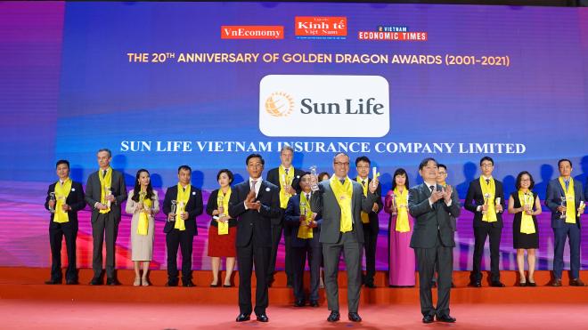 Sun Life Việt Nam vinh dự nhận 'Giải Thưởng Rồng Vàng'năm 2021