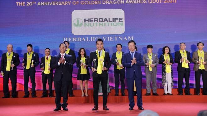 Herbalife Nutrition được vinh danh là 'Thương hiệu thực phẩm bổ sung dinh dưỡng hàng đầu'