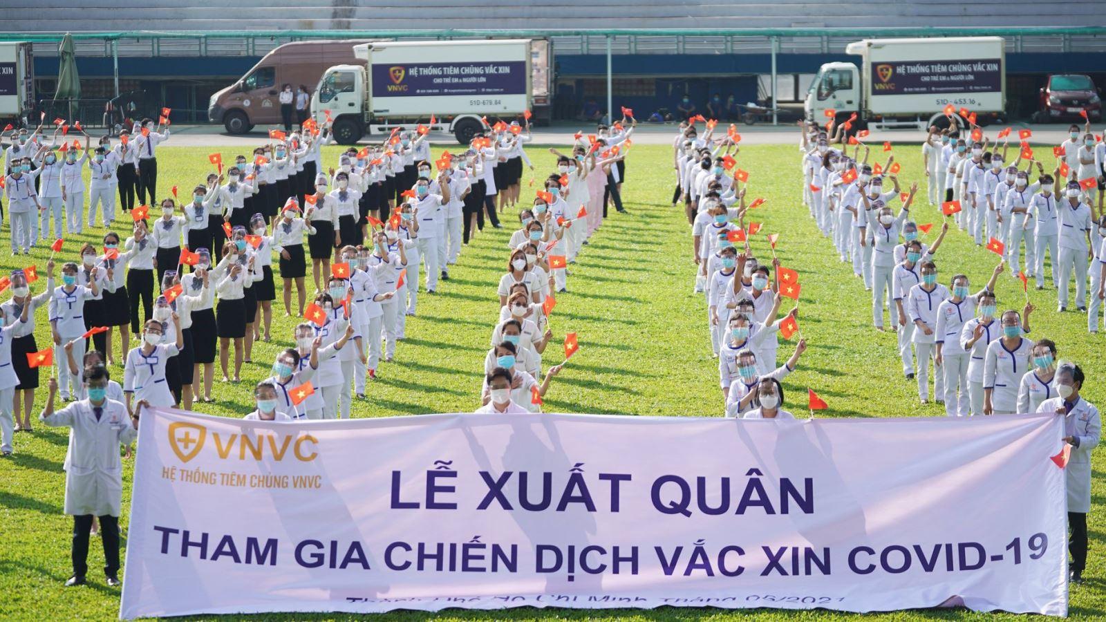 Hệ thống VNVC tham gia chiến dịch tiêm chủng vaccine phòng COVID-19 lớn nhất tại TP.HCM