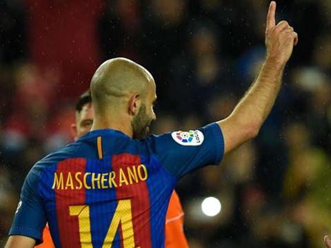 Mascherano ghi bàn đầu tiên cho Barca