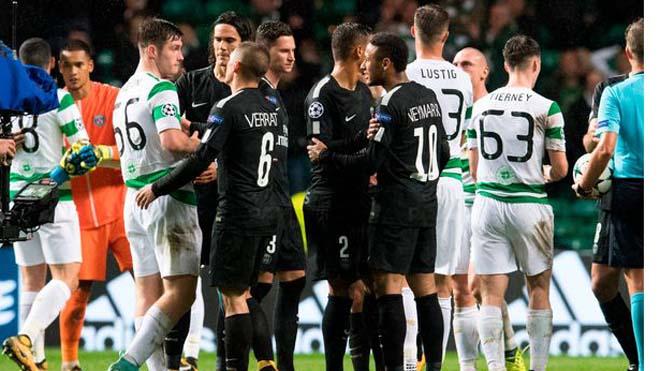 Neymar từ chối bắt tay cầu thủ Celtic, CĐV lao vào sân đòi đá Mbappe