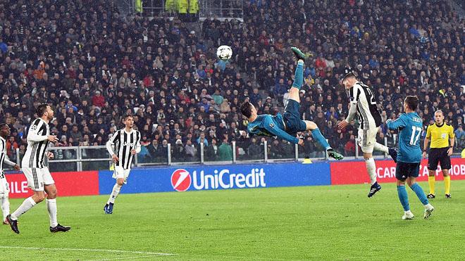 Video clip siêu phẩm 'xe đạp chổng ngược' của Cristiano Ronaldo vào lưới Juventus