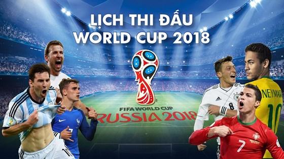 Lịch thi đấu, truyền hình trực tiếp World Cup 2018