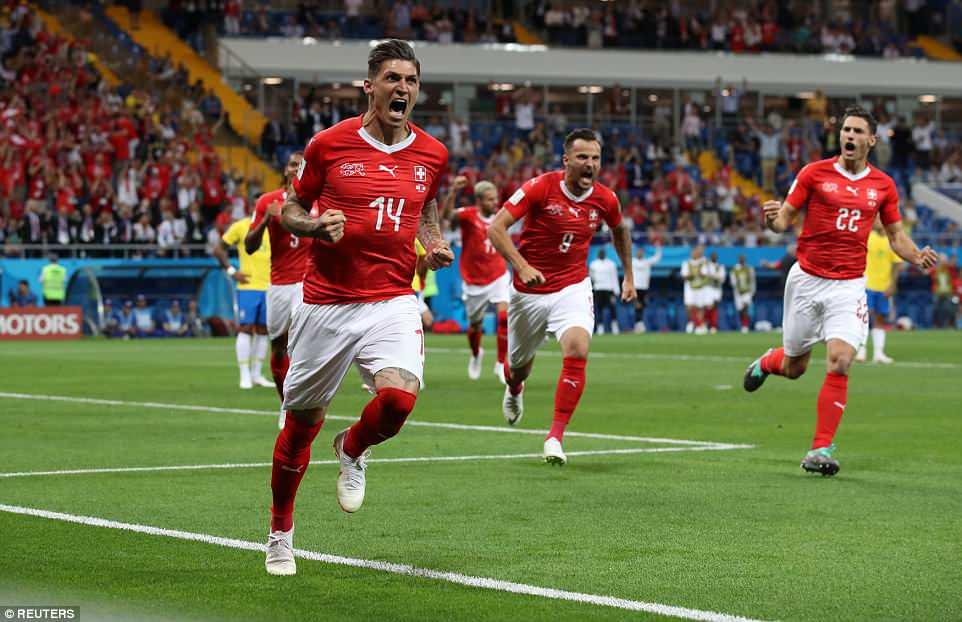 Video clip bàn thắng trận Brazil 1-1 Thụy Sĩ