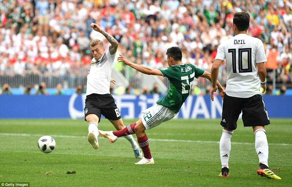 Video clip bàn thắng Đức 0-1 Mexico