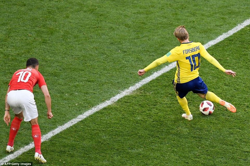 Video clip bàn thắng Thụy Điển 1-0 Thụy Sĩ: Thụy Điển lần đầu vào tứ kết sau 24 năm
