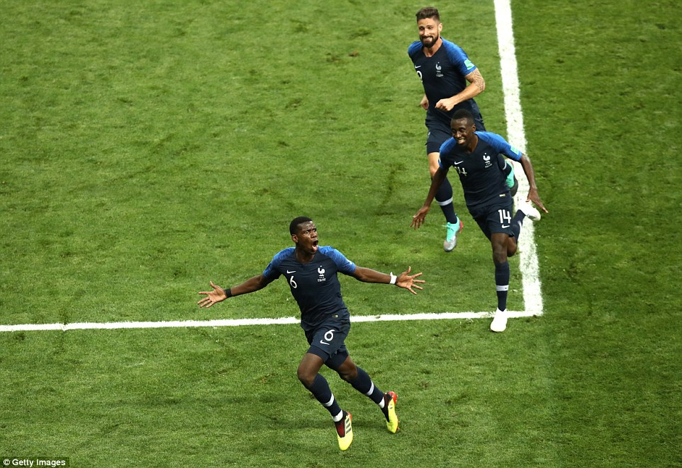 Video clip bàn thắng Pháp 4-2 Croatia: Les Bleus trên đỉnh thế giới