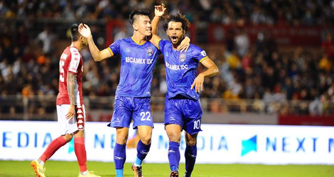 ket qua bong da, kết quả V-League vòng 8, kết quả TPHCM vs Bình Dương, TPHCM 1-2 Bình Dương, Công Phượng, TPHCM, Bình Dương, bảng xếp hạng V-League, bóng đá Việt Nam