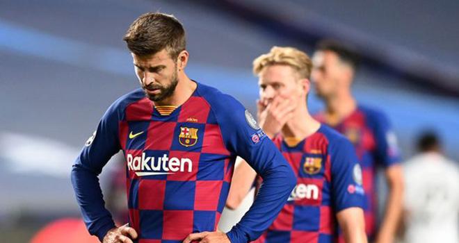 Kết quả bóng đá, Barcelona 2-8 Bayern Munich, Kết quả tứ kết cúp C1 châu Âu, kết quả barca đấu với Bayern, Kết quả tứ kết Champions League, Bayern, Barca, Pique