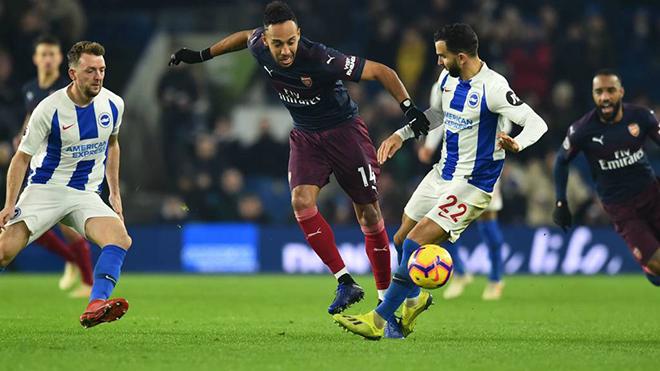 Arsenal, Video Brighton vs Arsenal, Video clip bàn thắng Brighton vs Arsenal, Kết quả bóng đá Ngoại hạng Anh vòng 16, Bảng xếp hạng bóng đá Ngoại hạng Anh