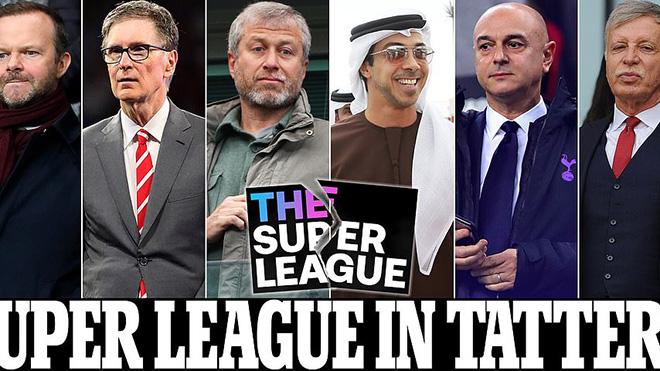 6 đội bóng Anh xác nhận rời khỏi Super League